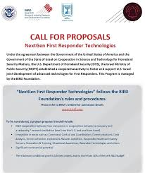 Project Proposals Inspiration Call For Proposals BIRD Foundation