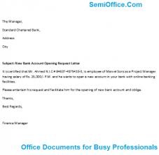 Best Ideas Of Sample Letter Request To Open New Bank Account