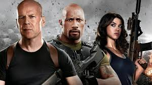 movies, The Rock, g i joe, Bruce Willis, Dwayne Johnson ...