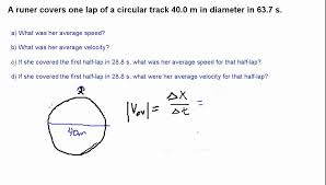 Speed Vs Velocity Finding Average Speed Vs Average Velocity Part 1