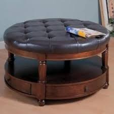 round leather ottoman coffee table. Round Leather Coffee Table Ottoman O