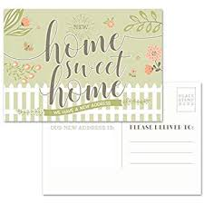 Announcement Postcards Amazon Com Moving Announcement Postcards Pack Of 50 Home Sweet