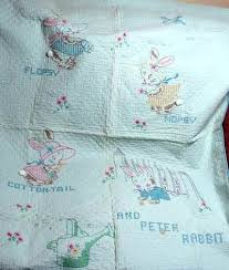 Baby Quilt Machine Embroidery Patterns Baby Quilt Squares To ... & ... Baby Blankets To Embroider Vintage Embroidered Baby Quilt Peter Rabbit  And Company Machine Embroidery Baby Quilt ... Adamdwight.com