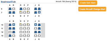 british airways 787 9 business cl seat map courtesy of expertflyer