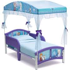 Disney Frozen Plastic Toddler Bed with Canopy by Delta Children ...