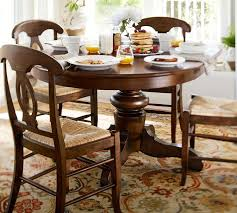pottery barn round dining table and chairs
