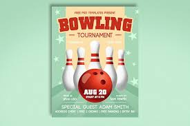Bowling Event Flyer Template Free Bowling Tournament Flyer Free Psd Templates