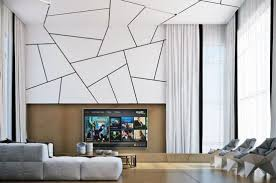 Chic geometric patterned accent wall