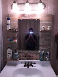 Pallet Wall Bathroom Bathroom Mirror Project O Pallet Ideas Pine Boards Medicine