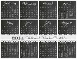 This themed printable calendar is free and ready to print and use. 2014 Diy Calendar Case And 12 Free Printables