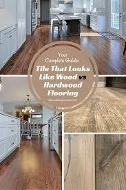 tile that looks like wood vs hardwood flooring home wood floor in kitchen or tile