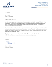 Pasco Inc Letters Of Reference