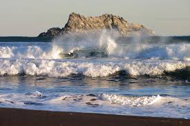 Image result for mountain and ocean waves