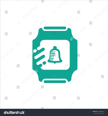 Smart Move Design Smart Watch Icon Bell Bubble Move Technology Signs