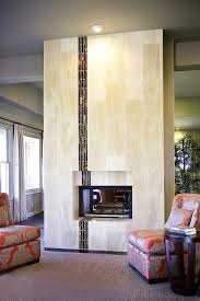 austin fireplace glass tile with modern bar stools and counter living room contemporary interior designer