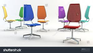 colored office chairs. Color Group Office Chairs 3 D Rendering Stock Illustration 6253642 - Shutterstock Colored