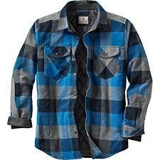 Amazon.com: Legendary Whitetails Men's Woodsman Quilted Shirt ... & Legendary Whitetails Men's Woodsman Quilted Shirt Jacket Blue Graphite  Plaid X-Large Adamdwight.com