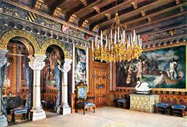 Die Wohnung Von König Ludwig Ii In Schloss Neuschwanstein Eine