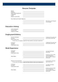 Blank Form Of Resumes Free Printable Resumes Airexpresscarrier Com
