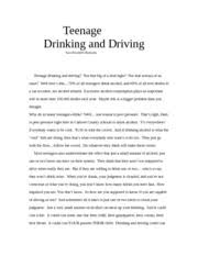 persuasive essay drunk driving can you imagine losing a loved  other related materials