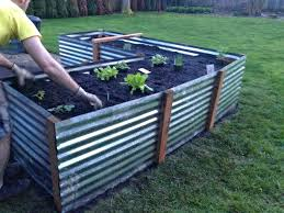 corrugated metal raised garden beds iron stunning of plans for galvanized steel with sides planter