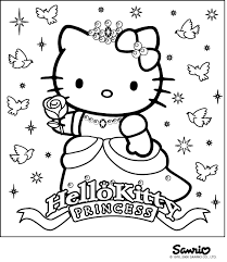 Coloring Pages Hello Kitty Birthday Acmsfsucom