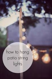 outdoor patio string lighting ideas. how to hang patio string lightsfor when you donu0027t have something like a tree them off of outdoor lighting ideas o