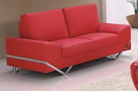 Sofa in Red Bonded Leather by American Eagle Furniture