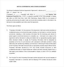 Mutual Confidentiality Agreement Confidentiality Agreement Template 100 Free Word Excel PDF 55