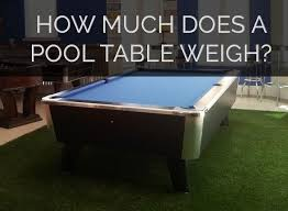 average pool table weight for all