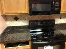 Kitchen Granite Donna S Tan Brown Granite Kitchen Countertop W Travertine