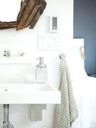 gray kitchen hand towels tassel white towel driftwood vanity mirror wall mount sink stripe
