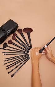32 piece black makeup brush set image 1