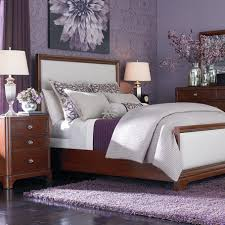 purple modern bedroom designs. Beautiful Purple Wall Colors For Modern Bedroom Design With Cherry Wood Cabinets Storage Also Wonderful Flower Picture Decoration Designs