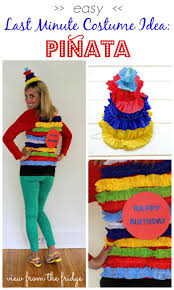 make this easy diy piñata costume for this year great last minute idea