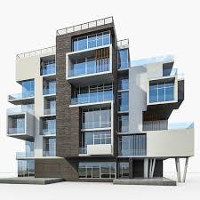 modern residential building. Delighful Building Modern Apartment Building 01 3d Model Max Obj Mtl 3ds Fbx Stl Dae 1  With Modern Residential Building E