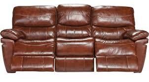 la verona chestnut leather reclining sofa