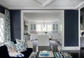 Trend Alert Navy U0026 Orange  Home Stories A To ZNavy And White Living Room