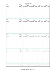 Training Log Template Luxury If You Re Into Weight This Free