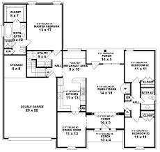 10 bedroom house plans. Three Bedroom House Floor Plans 5 3 Bath A Bed 10 G