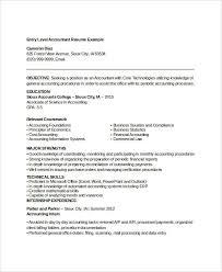 Free Printable Resume Template Stunning Gallery Of Printable Accountant Resume Templates 48 Free Word Pdf