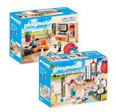 Playmobil Modernes Wohnhaus Möbelset 9267 Wohnzimmer 9268