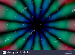 Radial Red Red Green Blue Grey And Black Radial Circle Pattern Stock Photo
