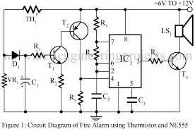 fire alarm using thermistor and ne555 best engineering projects fire alarm using thermistor project report pdf at Fire Alarm Circuit Diagram