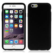 iphone 6 black case. iphone 6 case, tonsee rubber silicone soft gel skin case cover for iphone ( black p