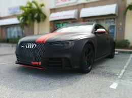 matte black audi s4. audi rs 5 wrapped in 3m matte black with red stripes by florida car wrap youtube s4