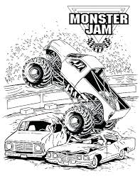 Free Printable Monster Truck Coloring Pages Best Grave Digger