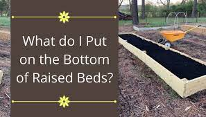 put on the bottom of raised beds