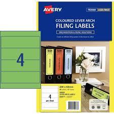 13 99 Avery 959073 Laser Inkjet Labels Lever Arch Spine