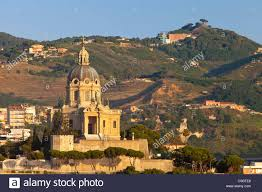 Sacrario di Cristo Re Church on the hillside overlooking Messina Stock  Photo - Alamy